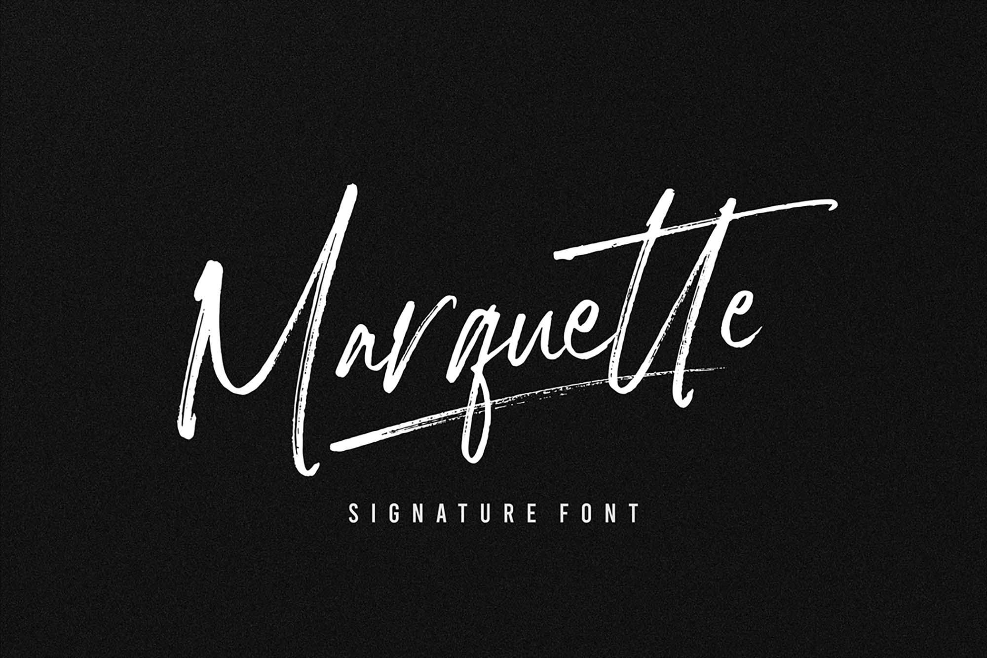 Marquette Signature Font 3