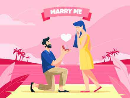 Marry Me Vector Illustration