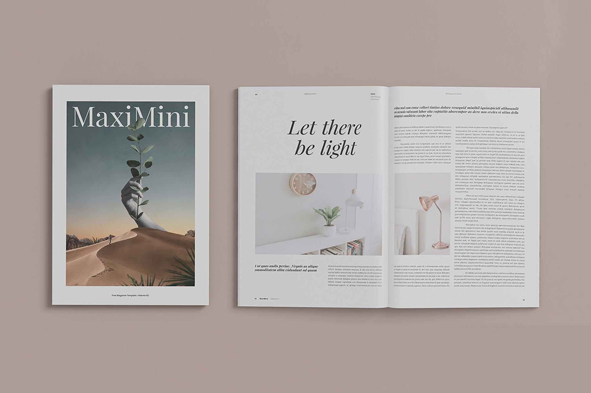 Minimalist Magazine Mockup 1
