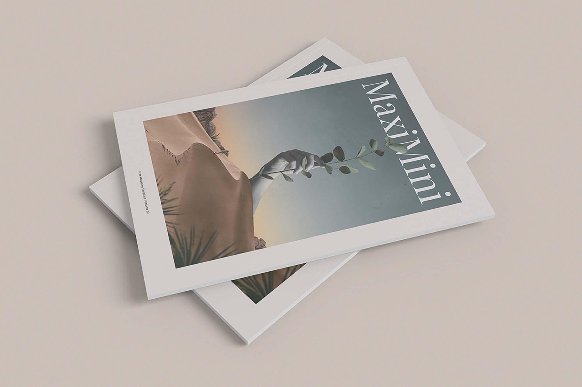 Minimalist Magazine Mockup 3