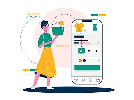 Mobile Shopping Illustration