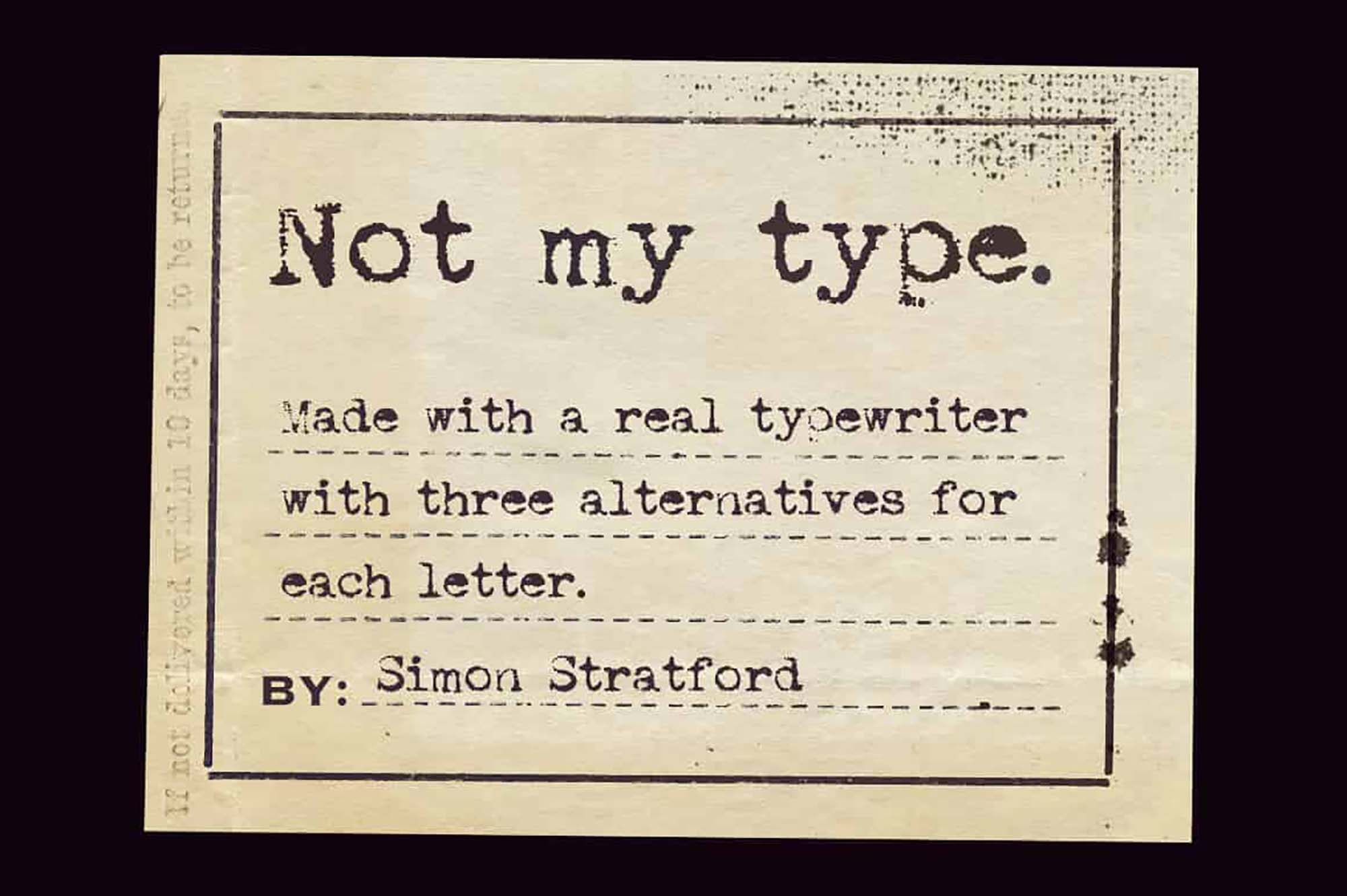 Not My Type Font