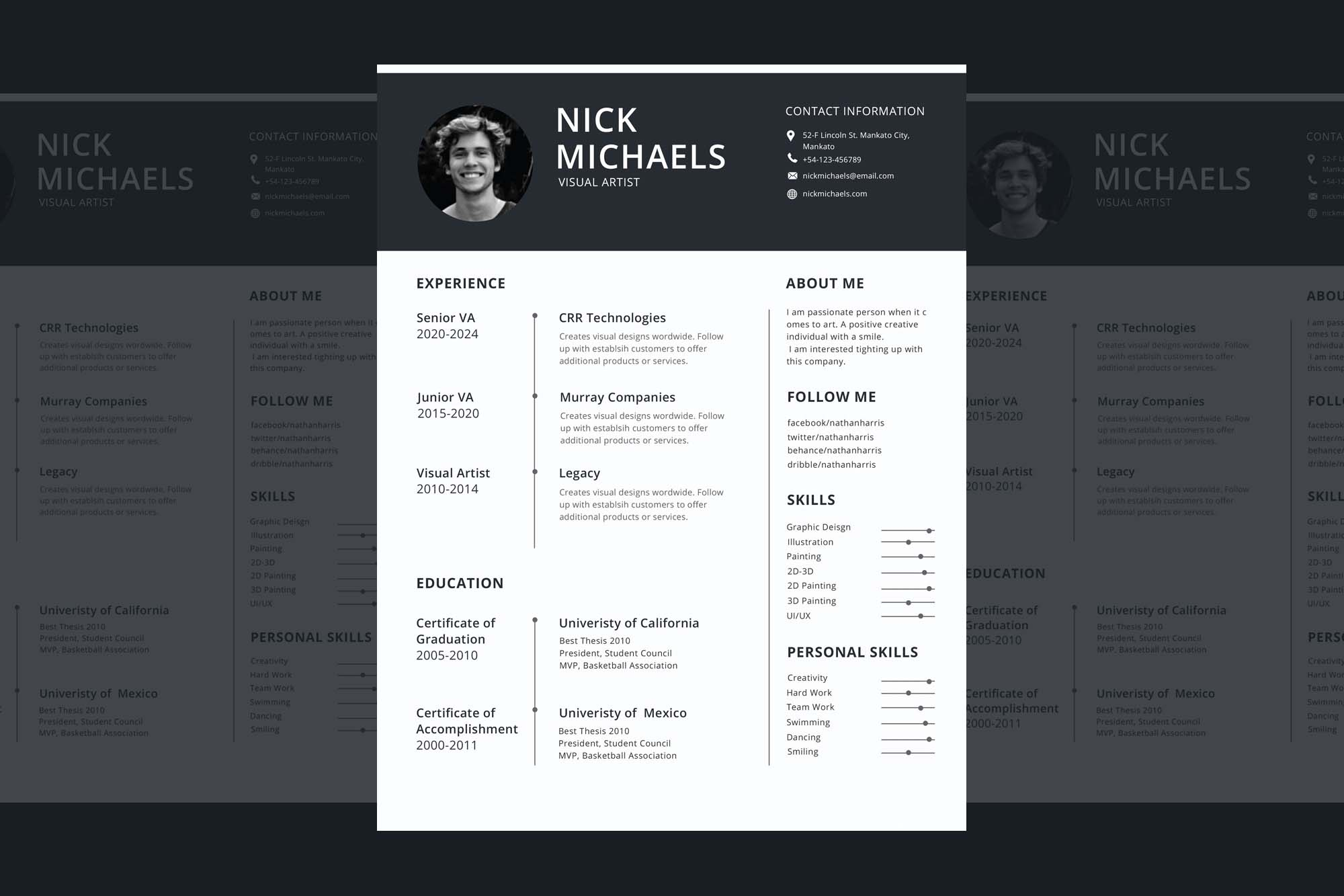 One Page Resume Template 2