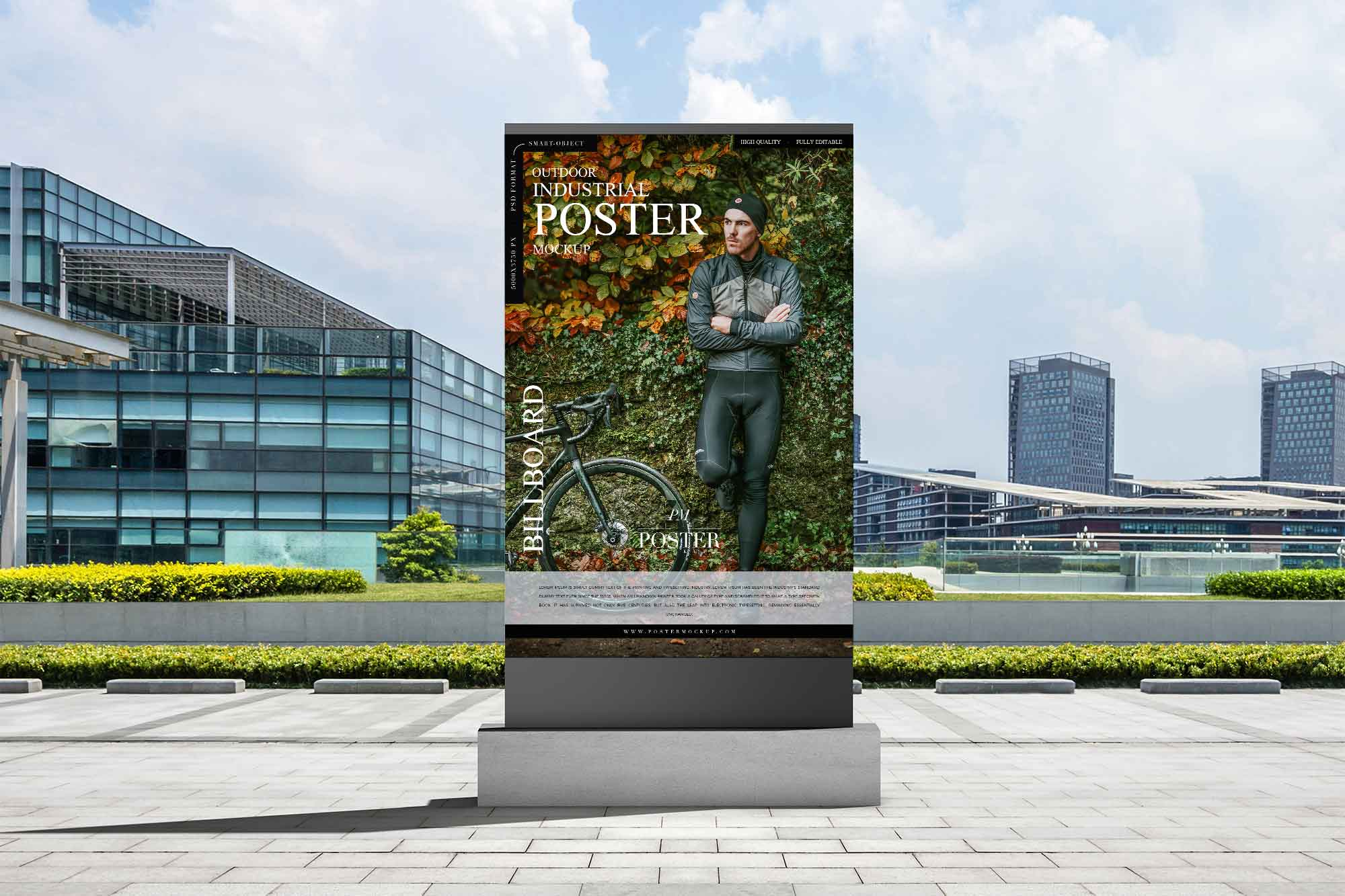 Outdoor Industrial Billboard Poster Mockup