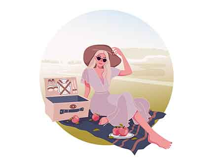 Picnic Vector Illustration