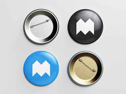 Pin Button Mockups