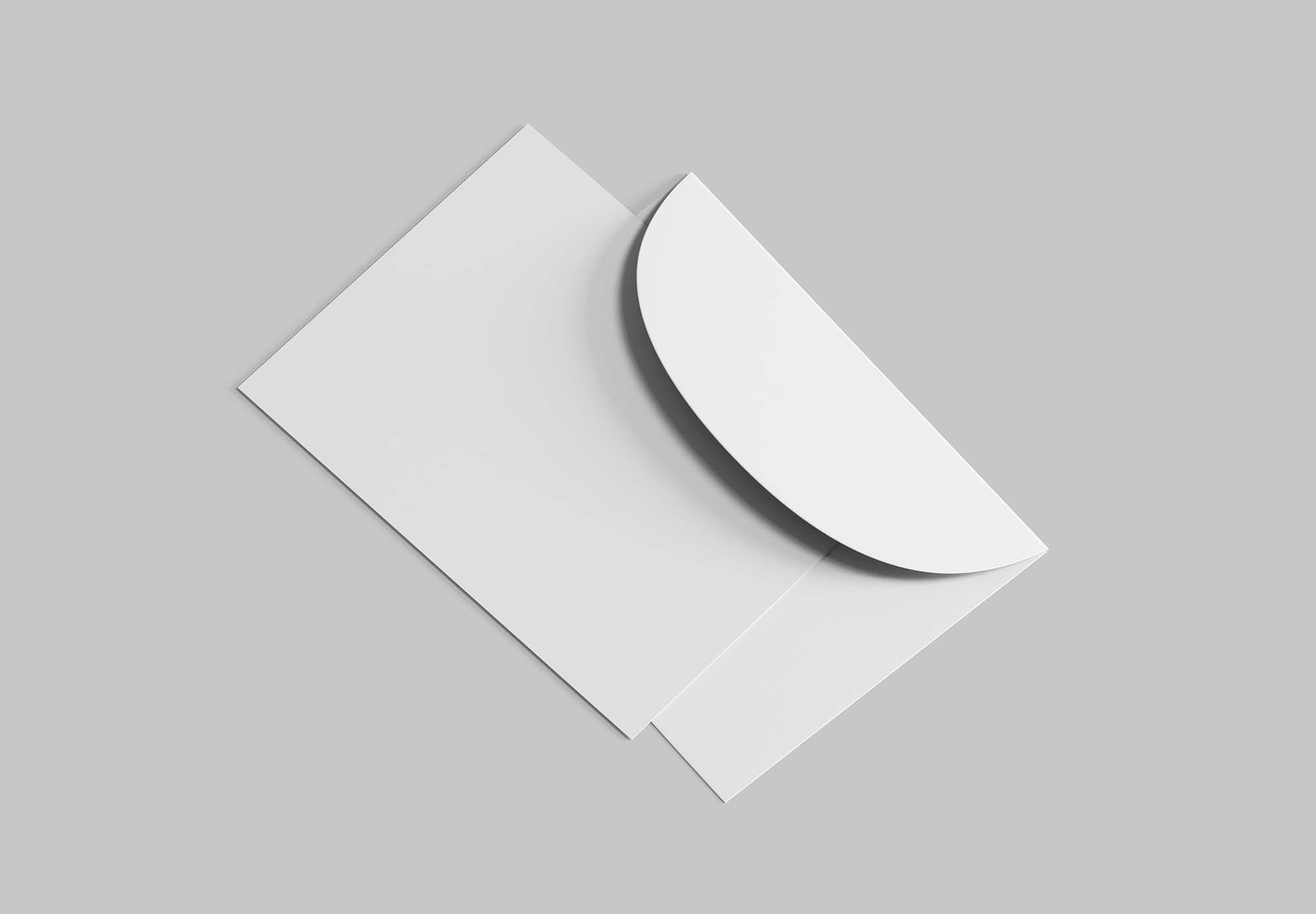 Postcard with Envelope Mockup 2
