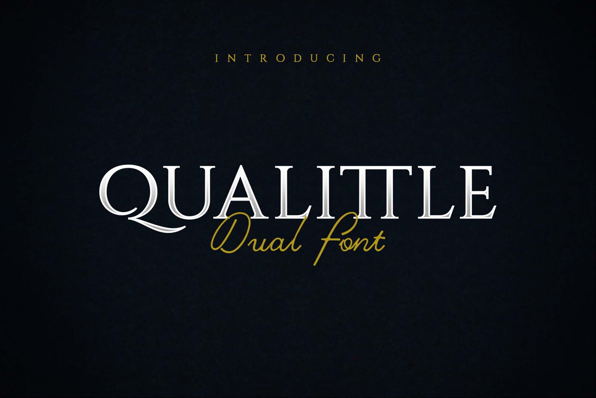 Qualittle Dual Font