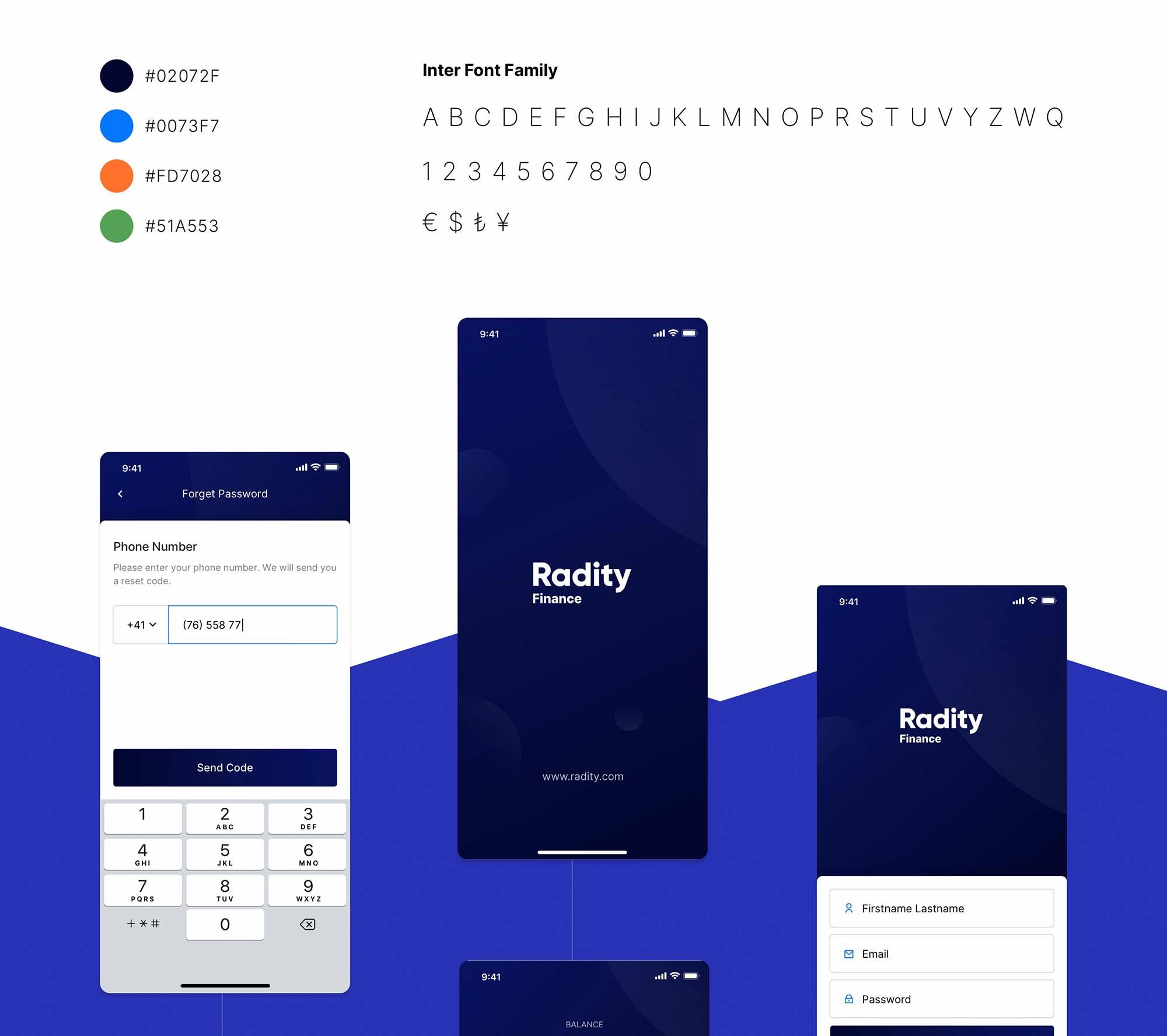 Radity Finance UI App Template 2