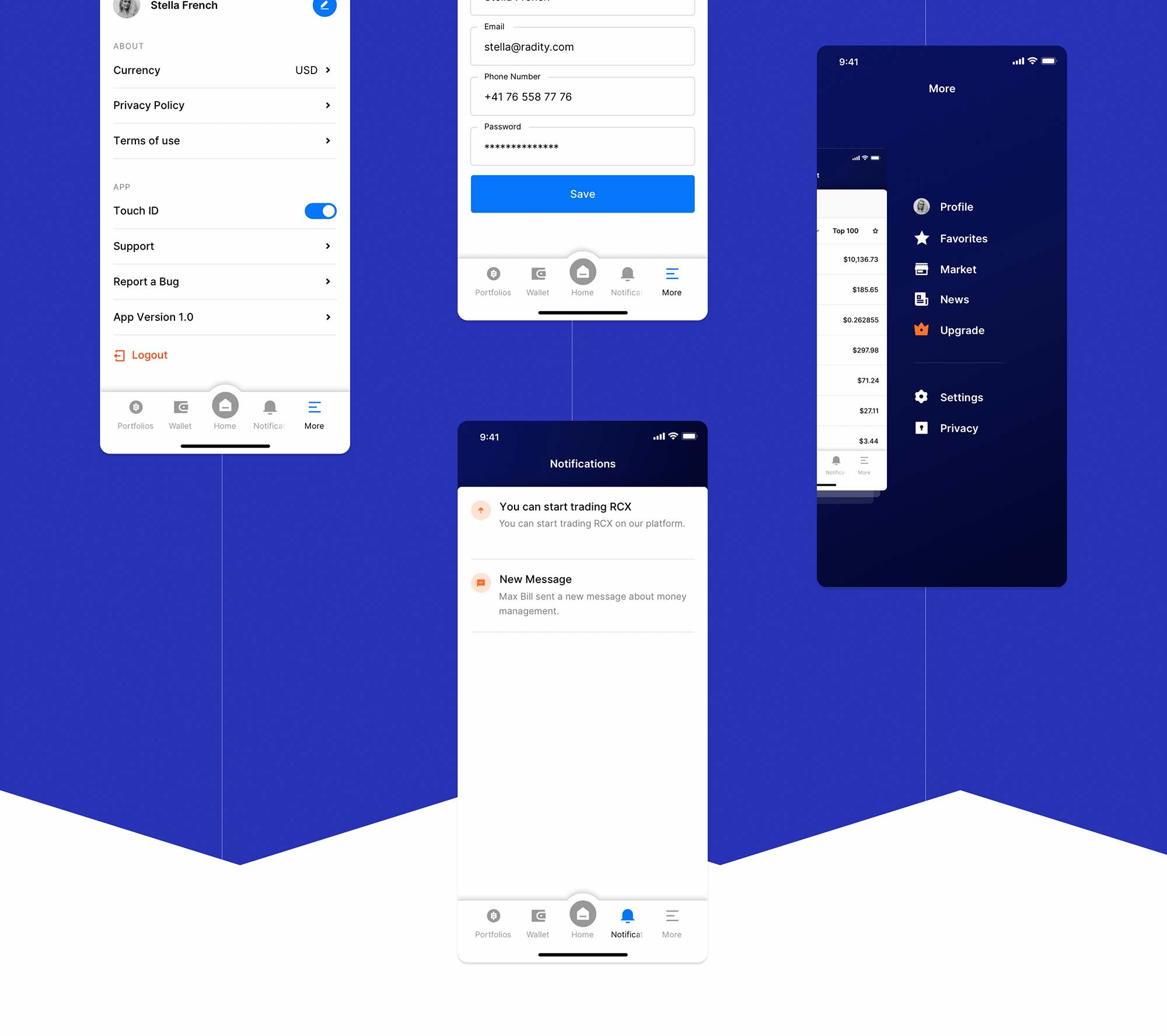 Radity Finance UI App Template 5