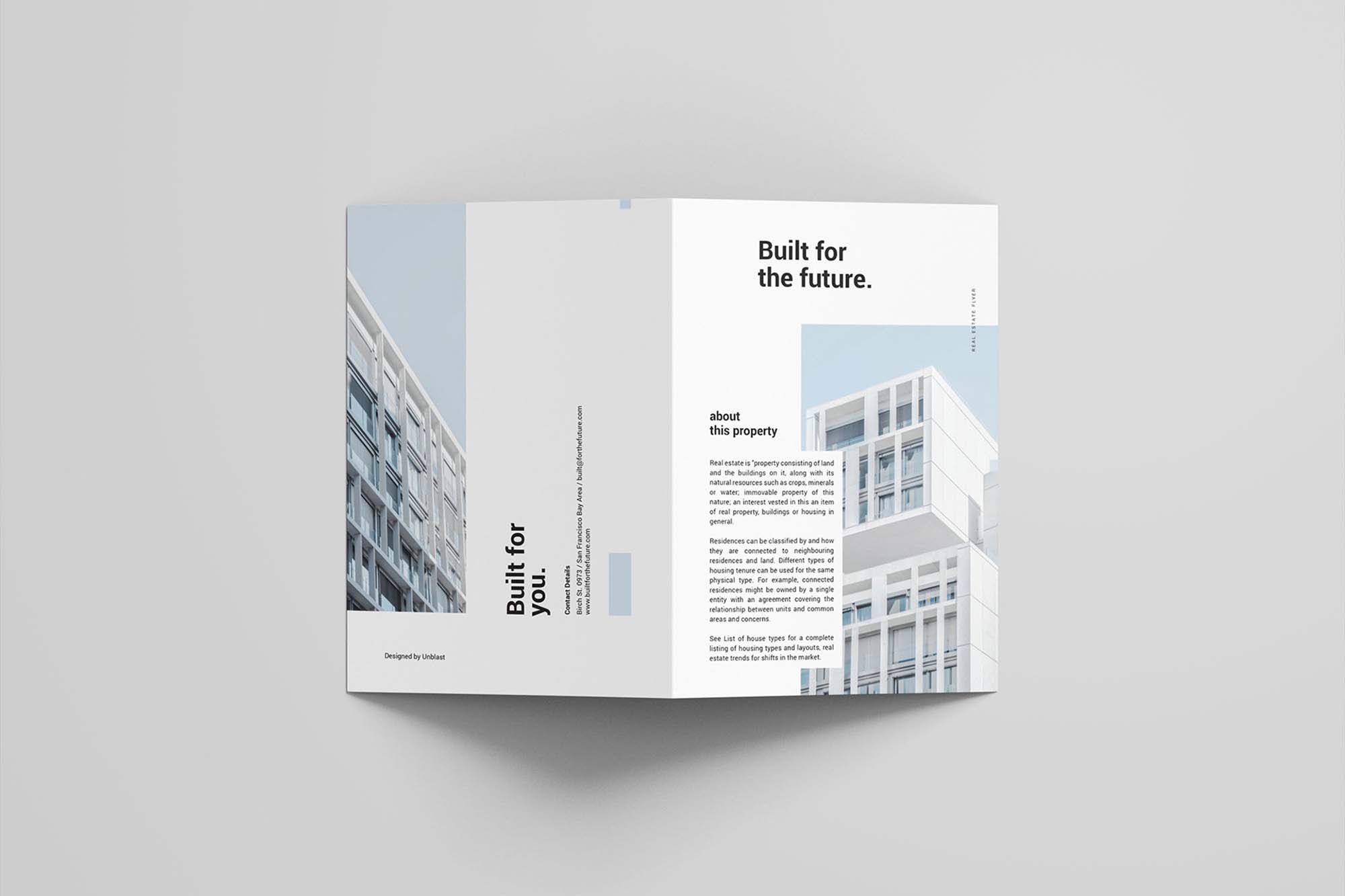 Real Estate Bifold Brochure Template