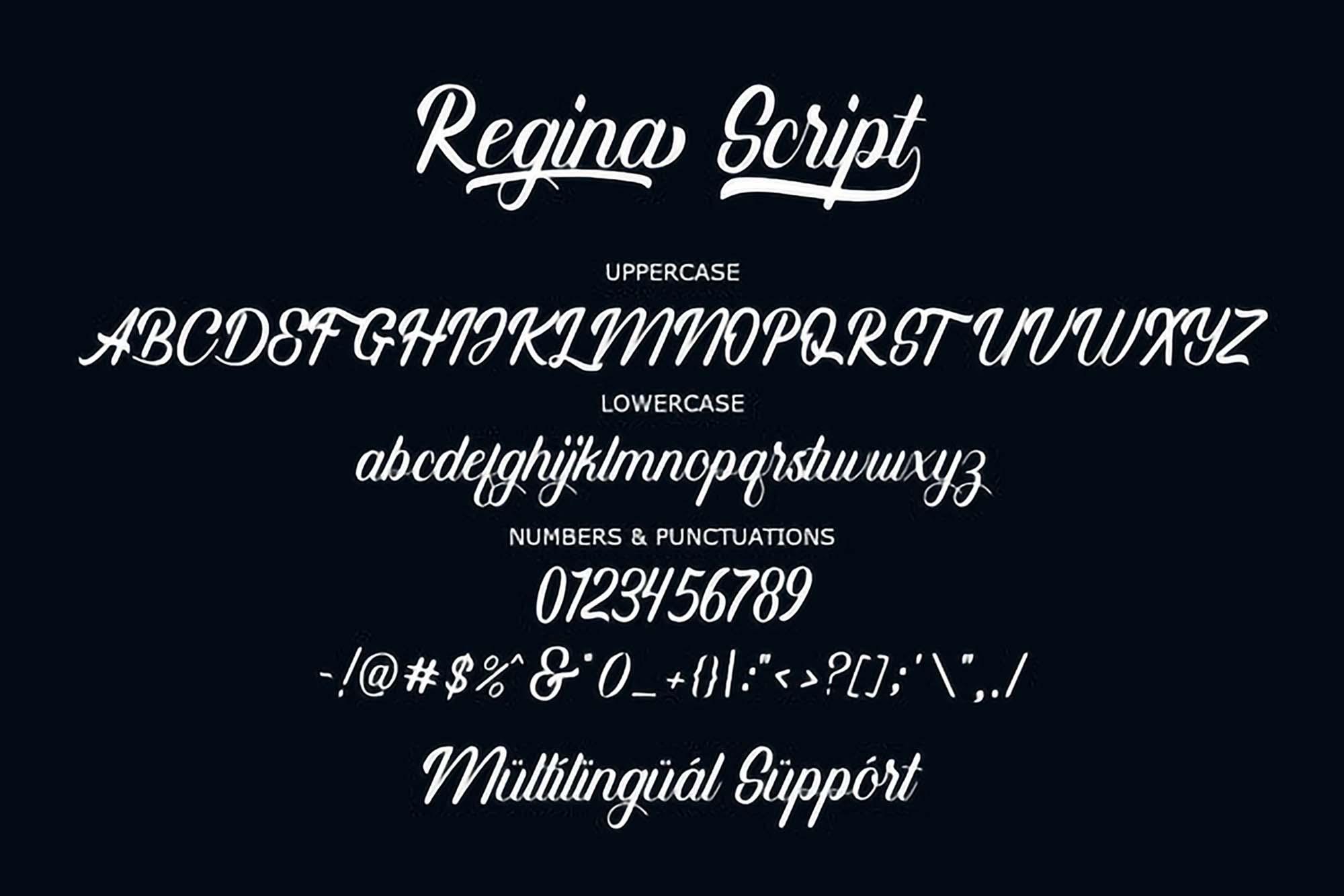 Refina Script Font 4