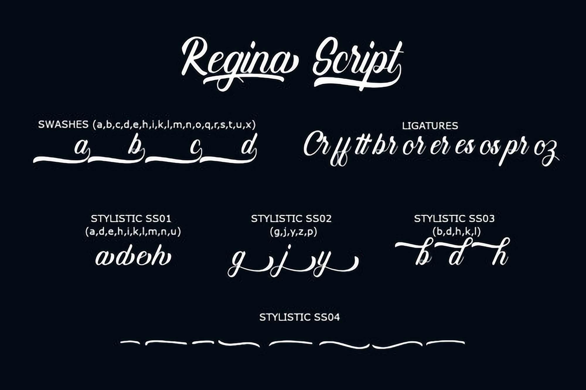 Refina Script Font 5