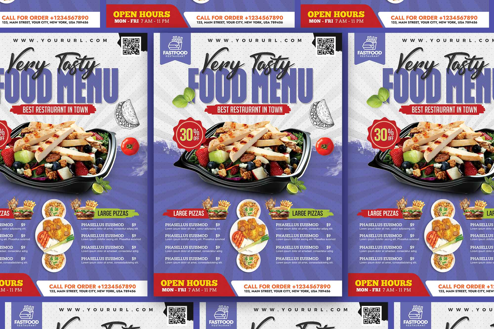 Restaurant Food Menu Flyer Template 2