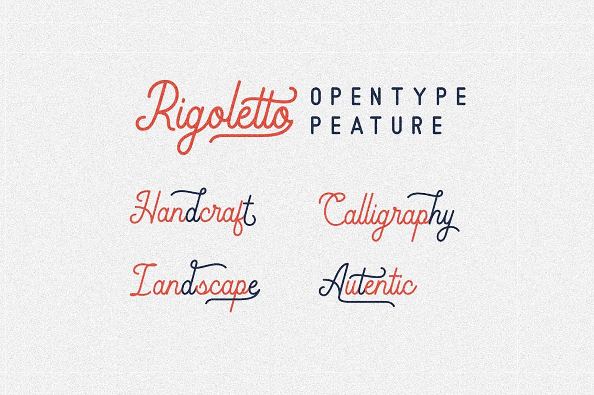 Rigoletto Monoline Script Font 2
