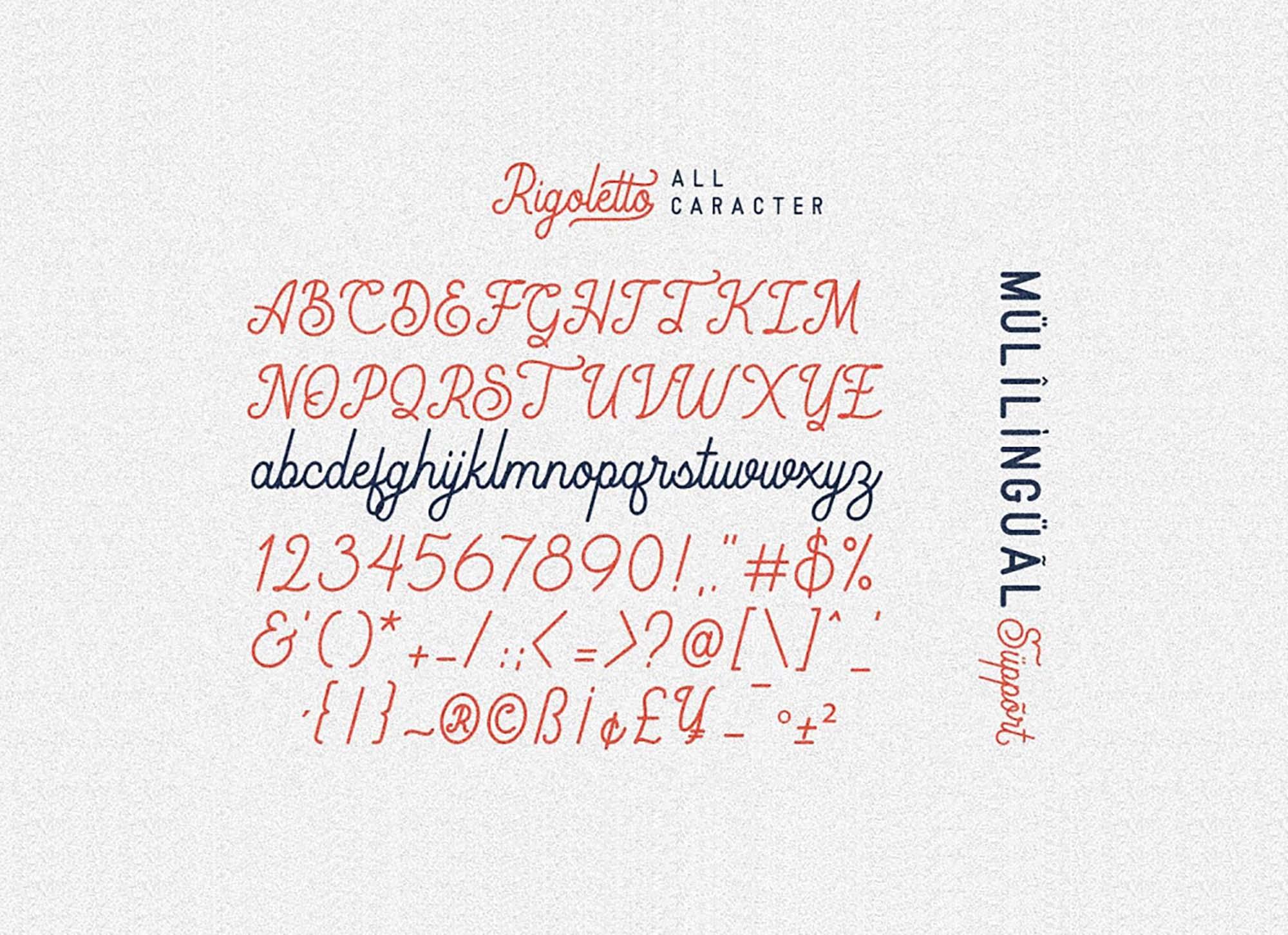 Rigoletto Monoline Script Font 3