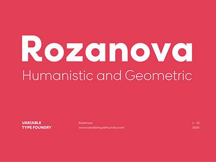 Rozanova Font Family