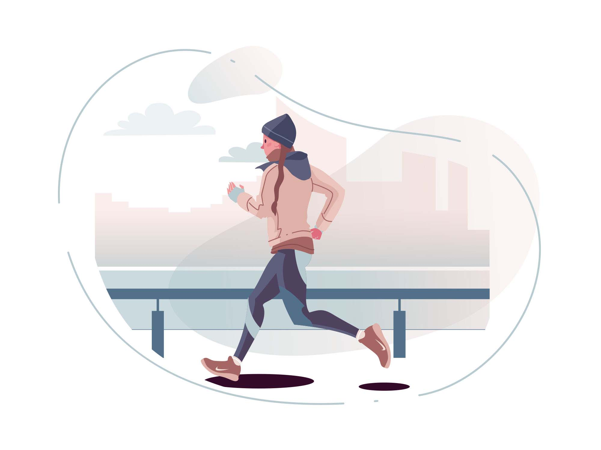 Runner Vector Illustration