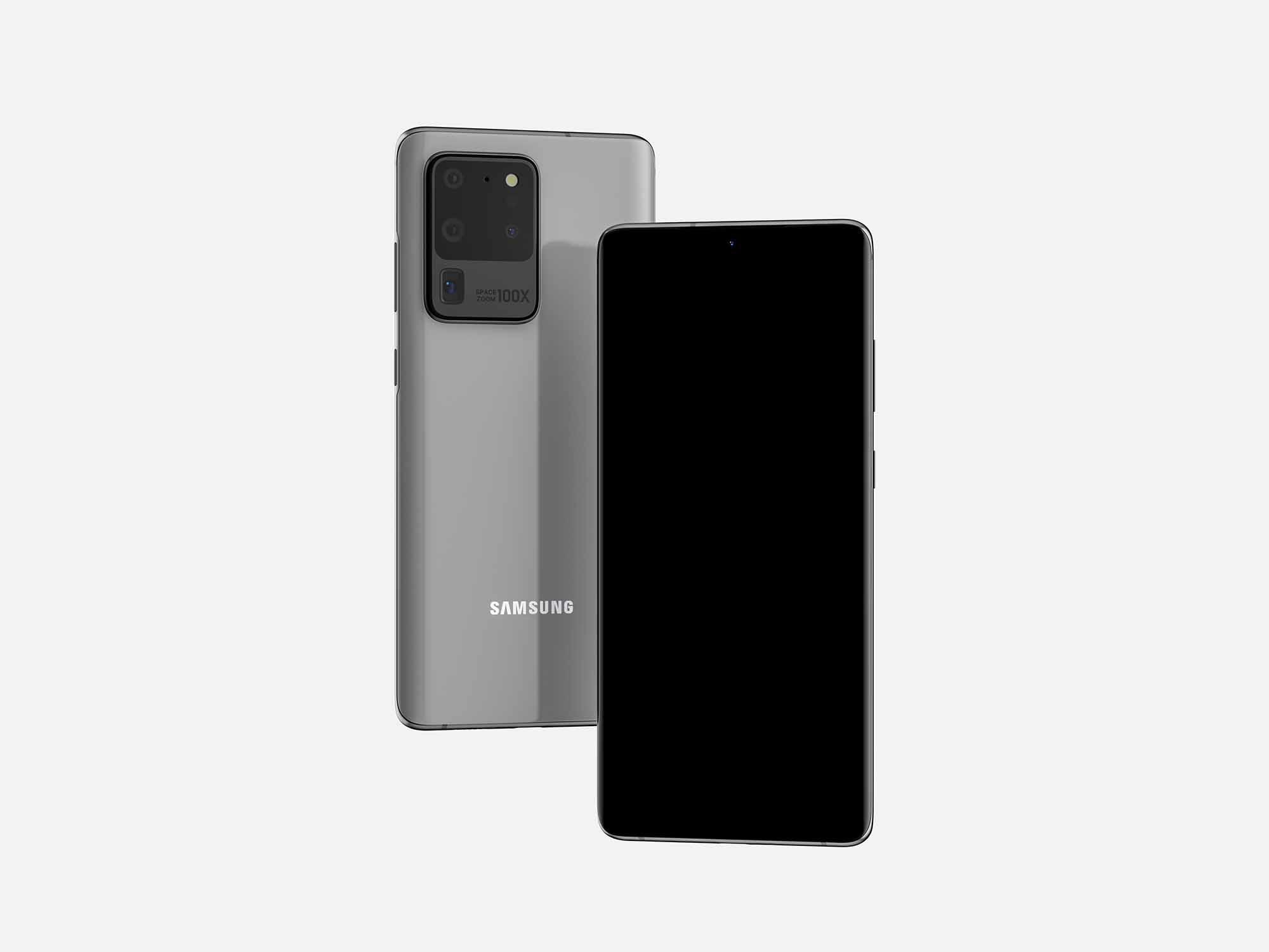 Samsung Galaxy S20 Ultra Mockup 2