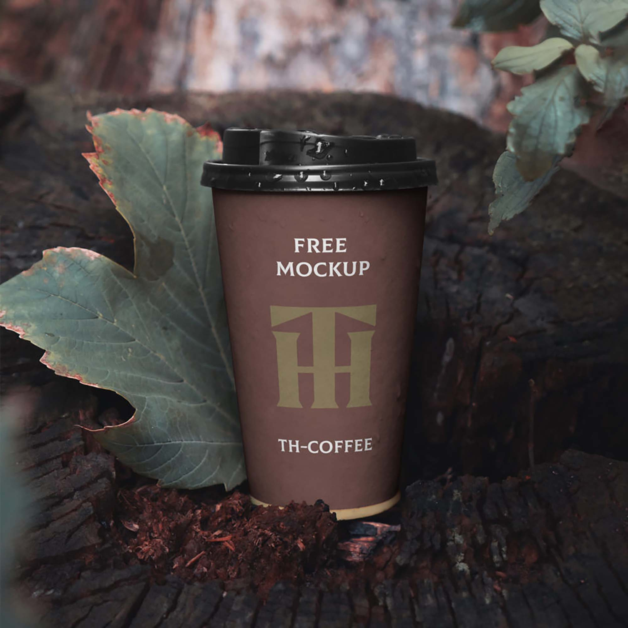 Single Paper Cup Mockup
