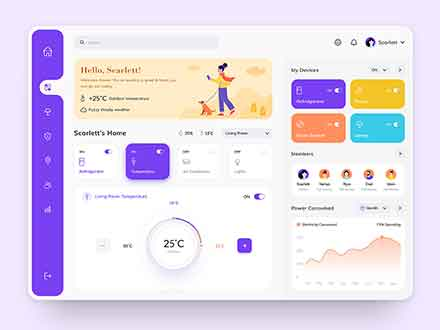 Smart Home Dashboard Ui Template