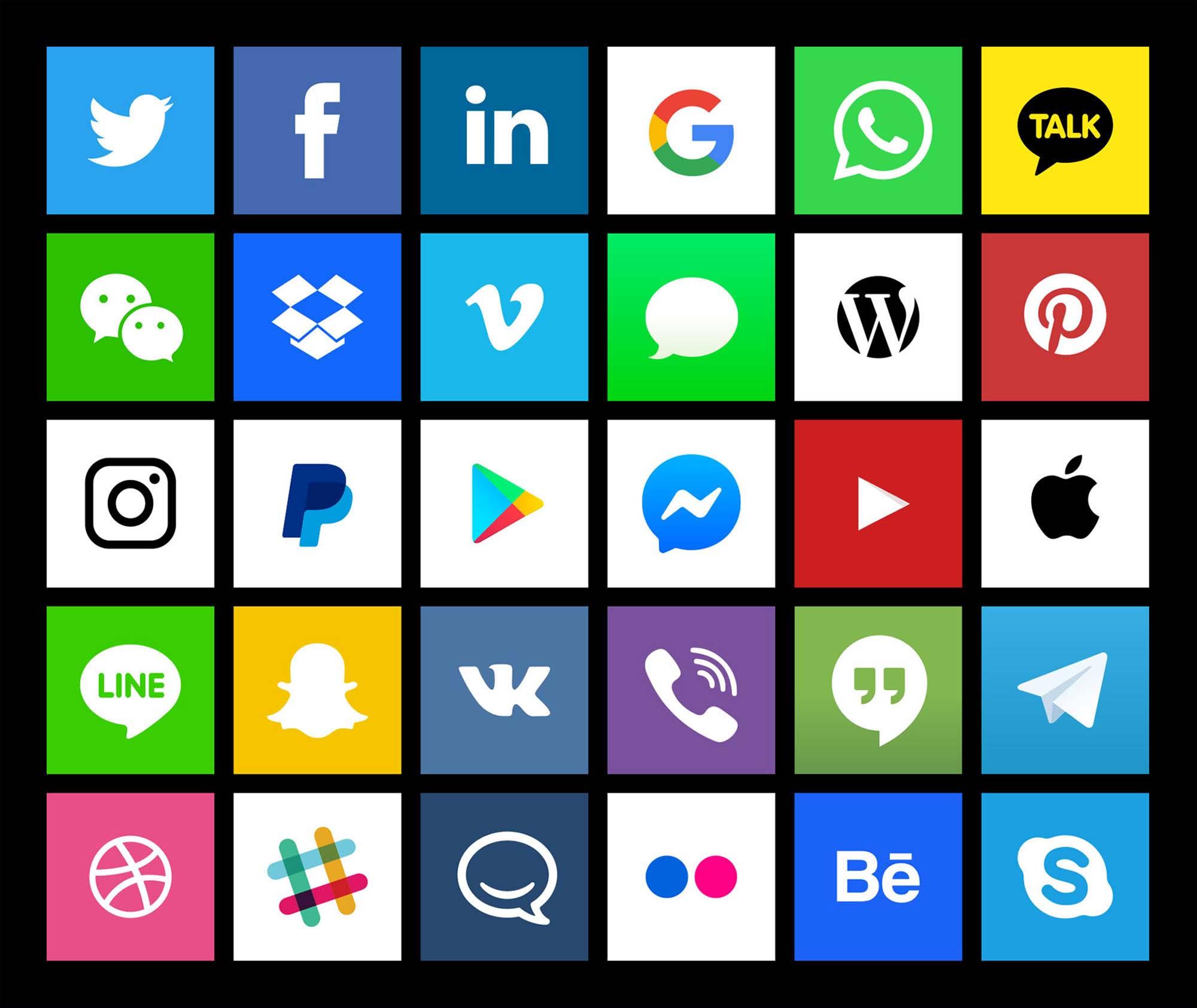 Social Media Vector Icons 2