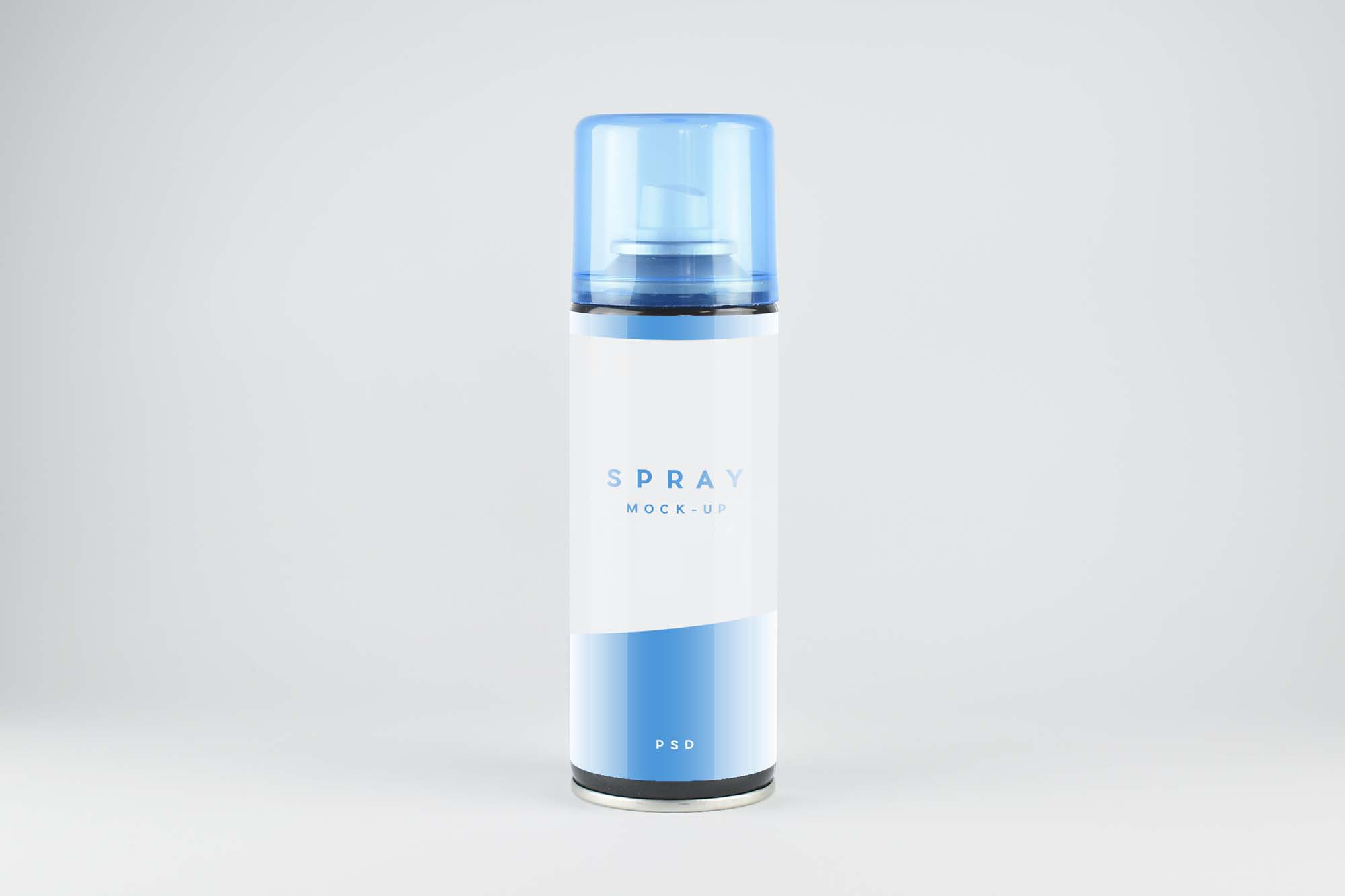 Front View Spray Bottle Mockup
