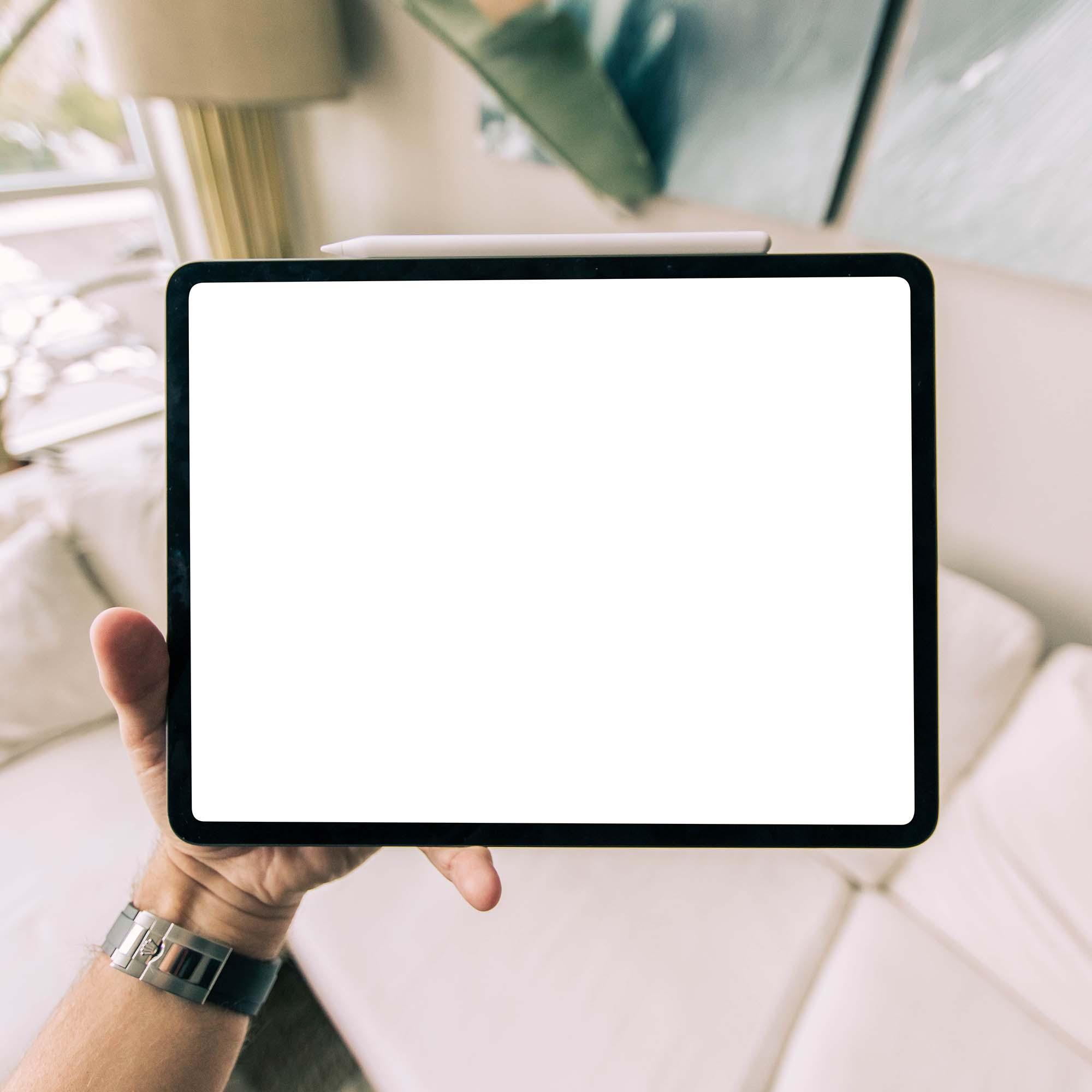 Tablet in Hand Mockup 2