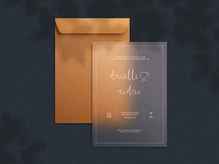 Transparent Invitation Card Mockup
