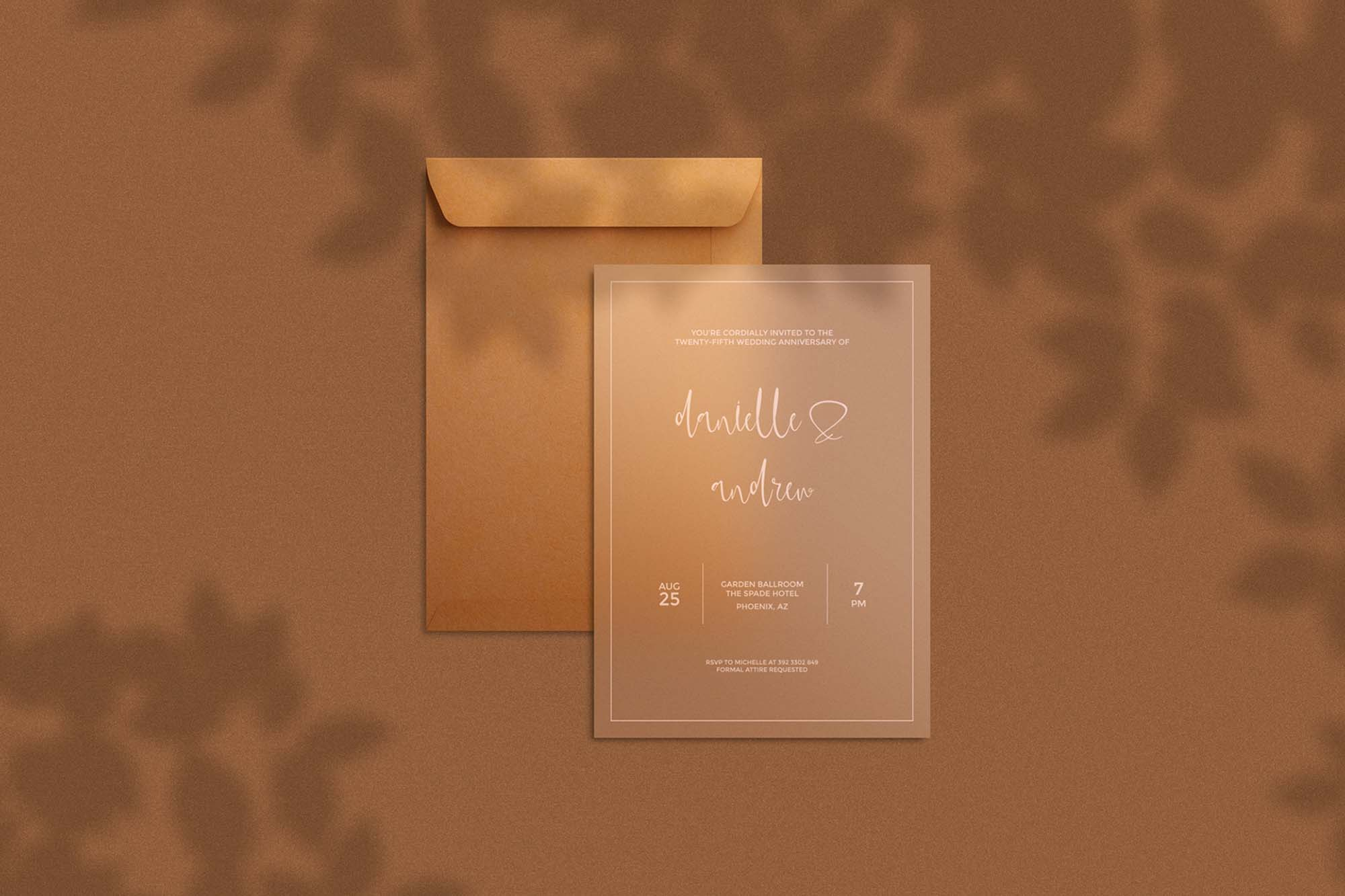 Transparent Invitation Card Mockup 2