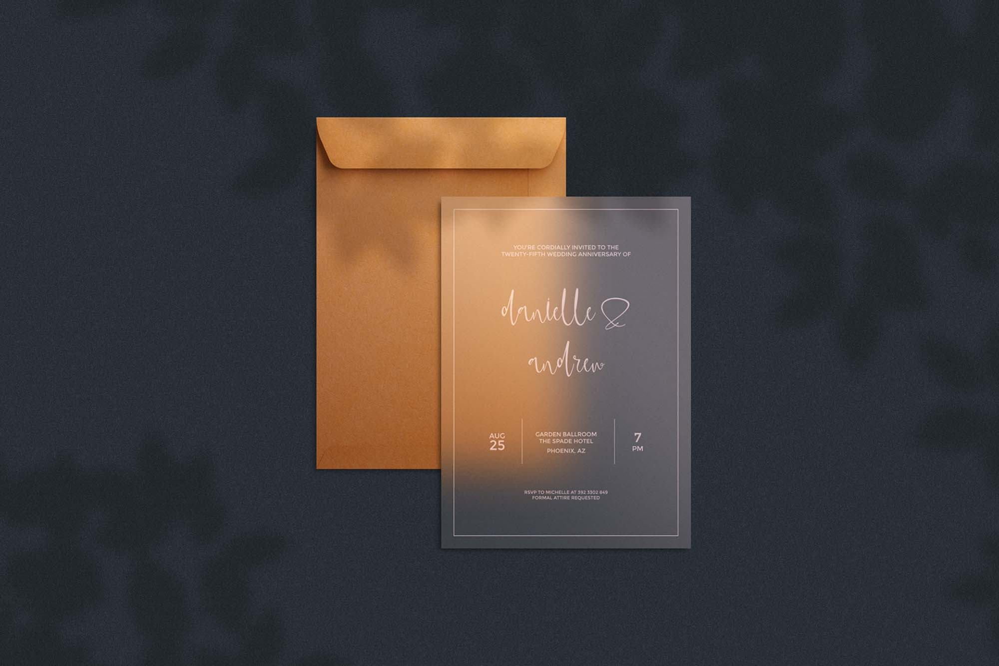 Free Transparent Invitation Card Mockup (PSD)