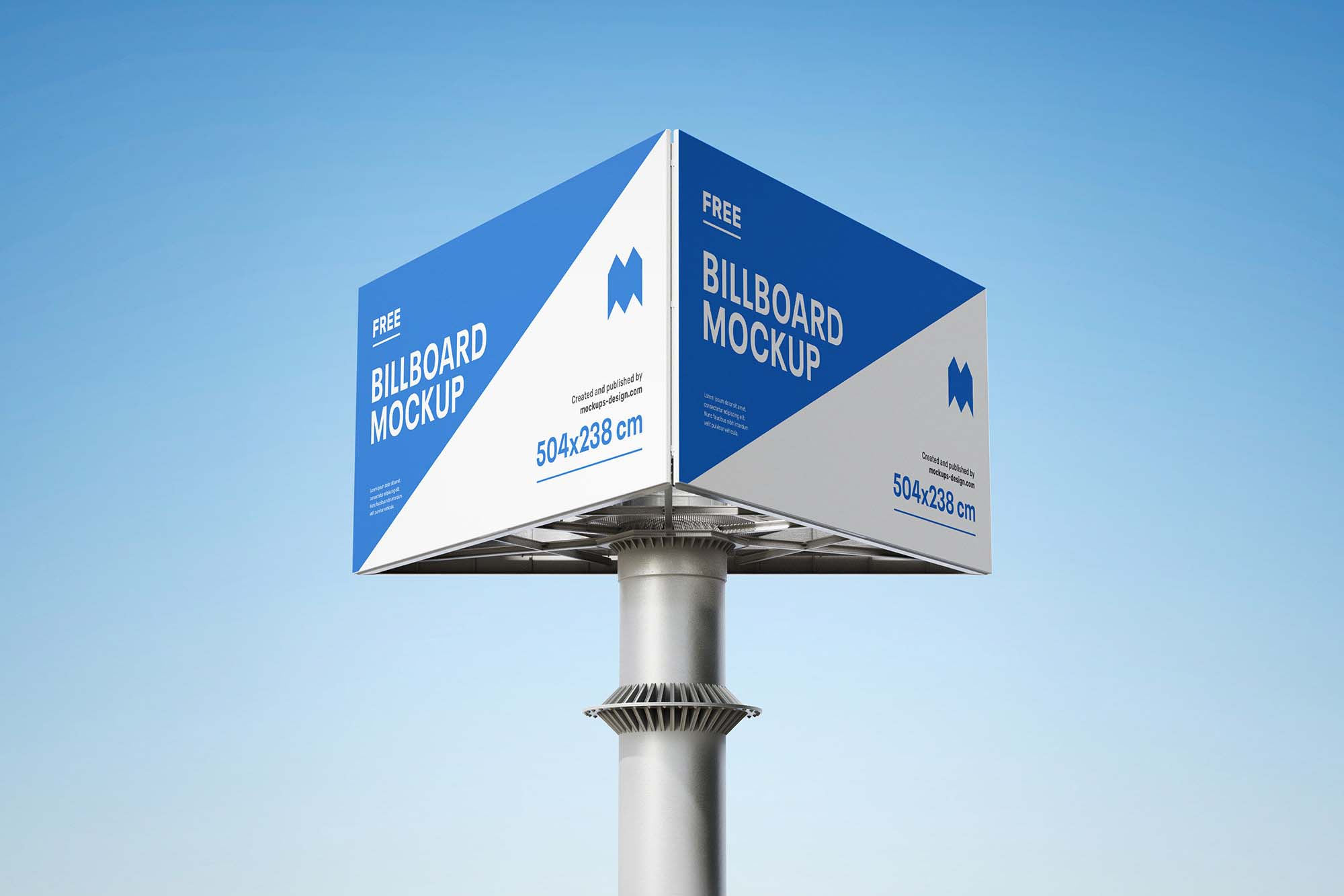 Triple Side Billboard Mockup 2