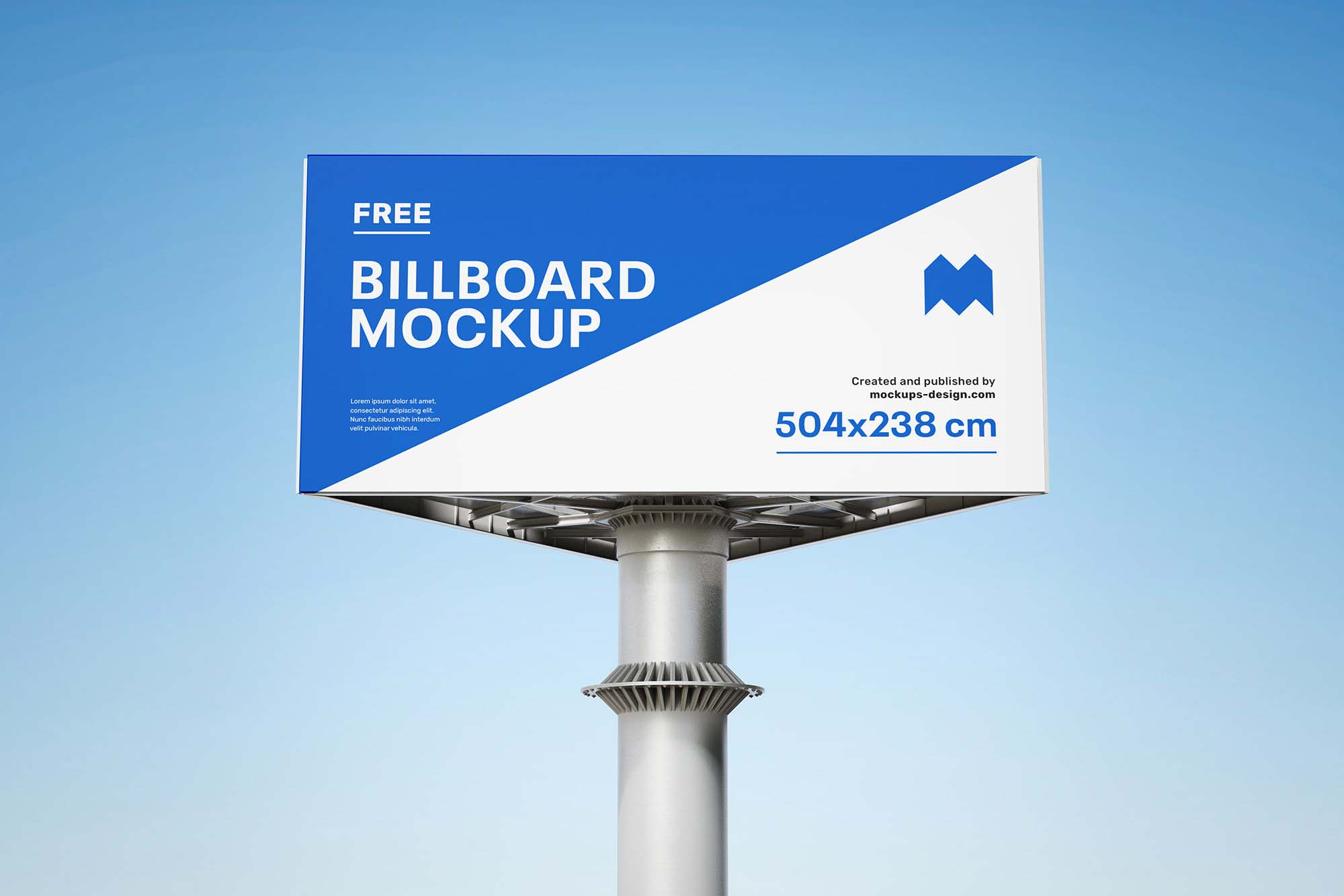 Triple Side Billboard Mockup 3