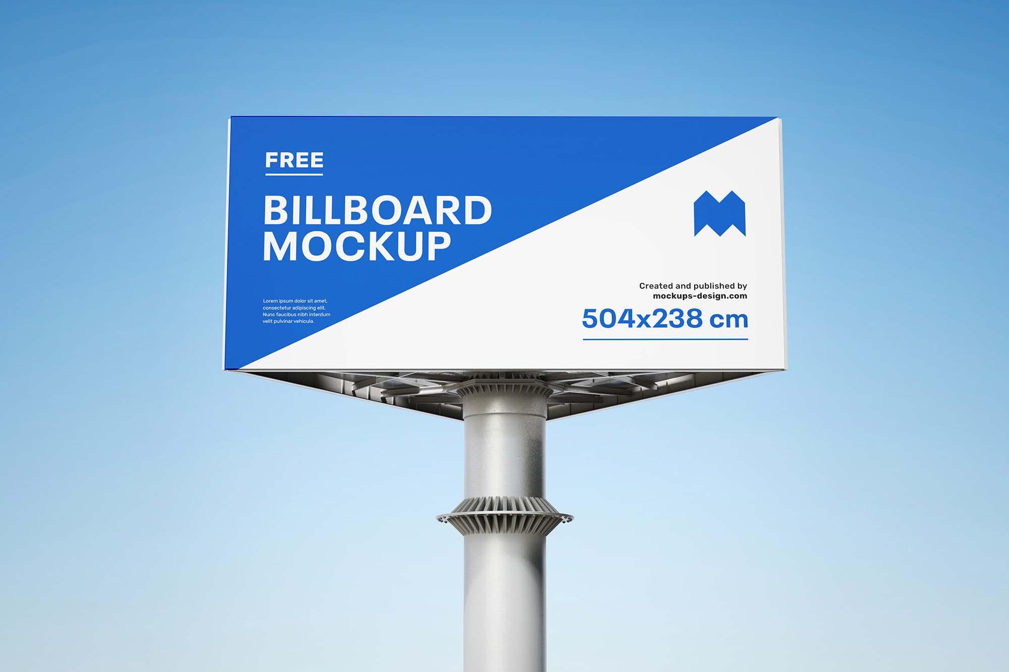 Triple Side Billboard Mockup 3
