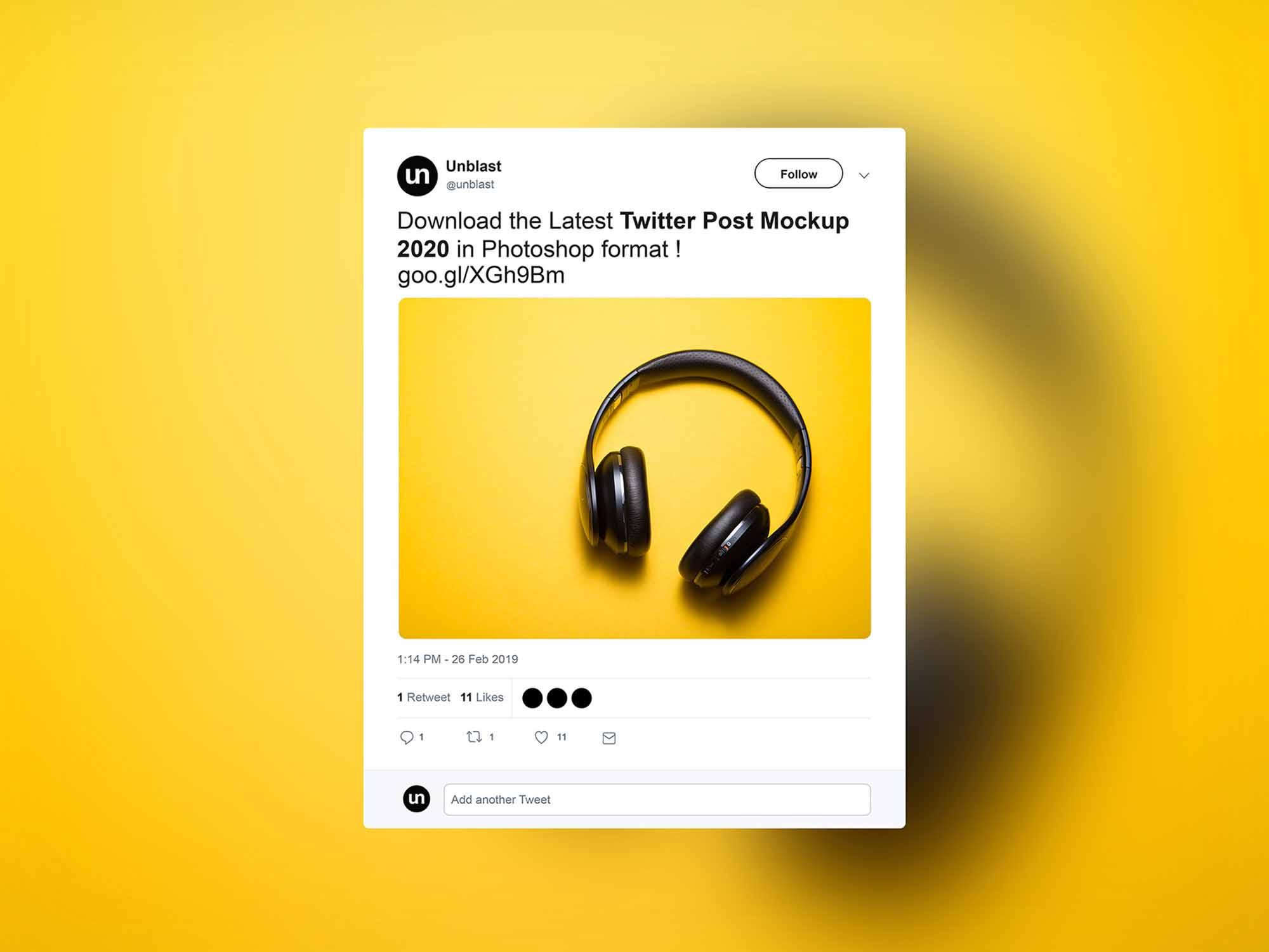 Twitter Post Mockup 2020
