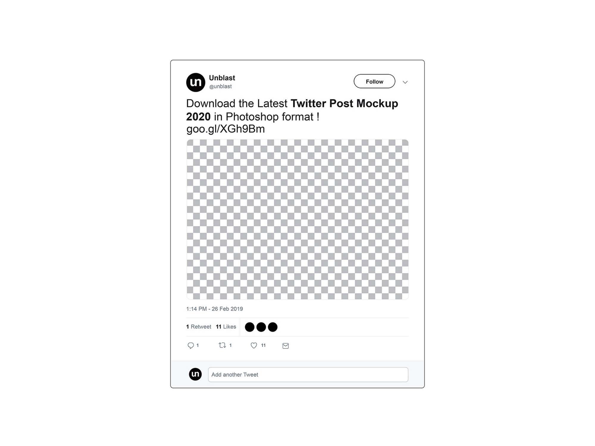 Twitter Tweet Mockup 2020