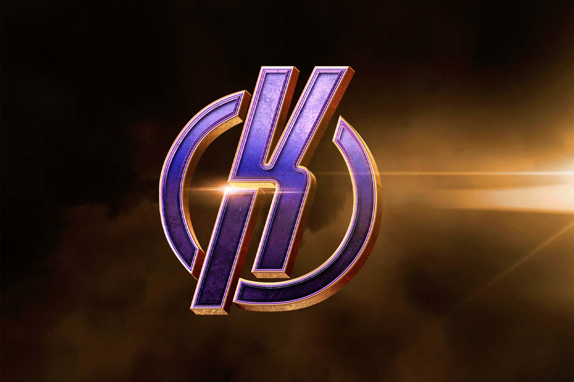 3D Superhero Logo Mockup 2