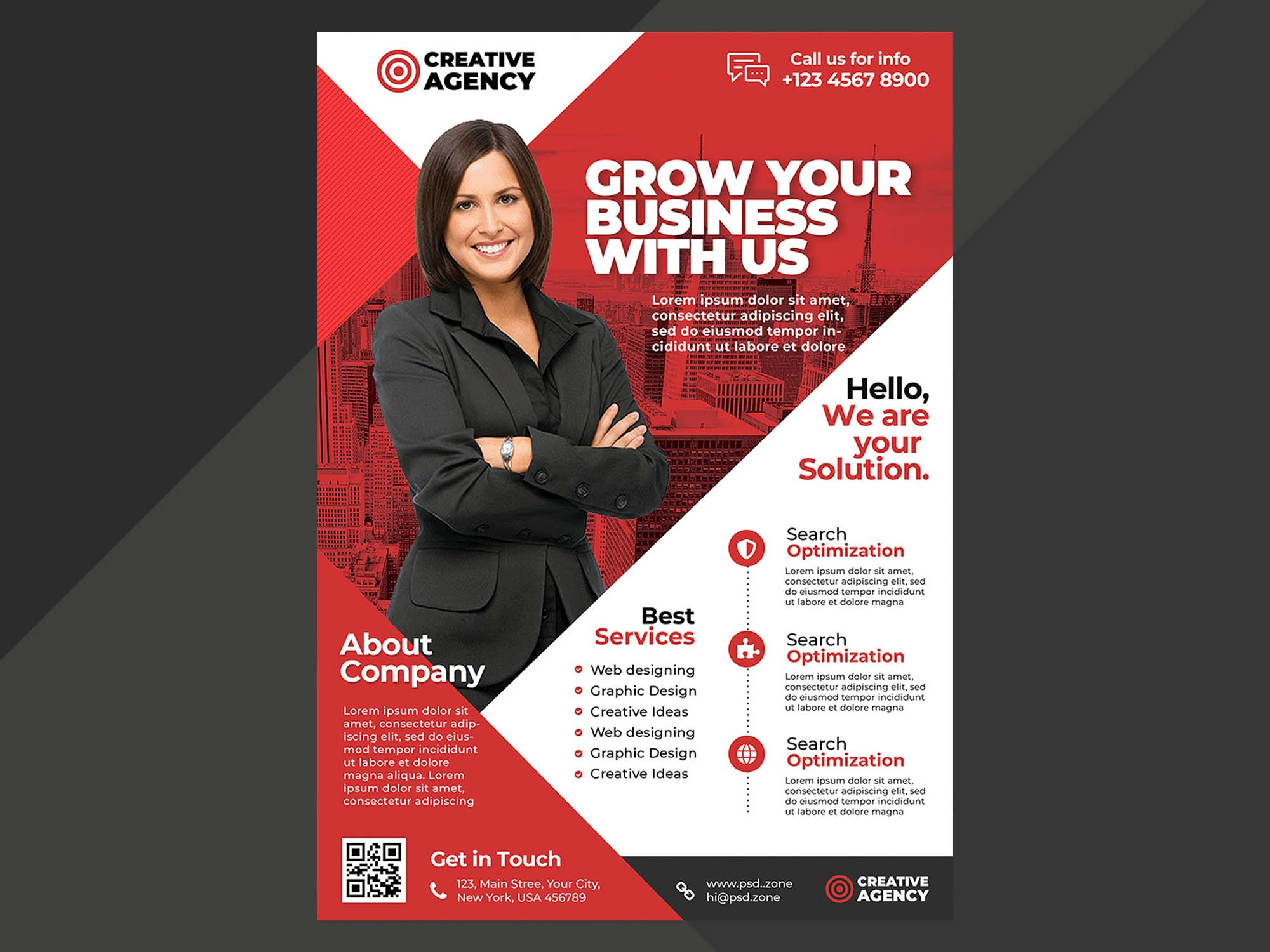 Free A4 Corporate Flyer Template Psd