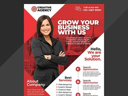 A4 Corporate Flyer Template