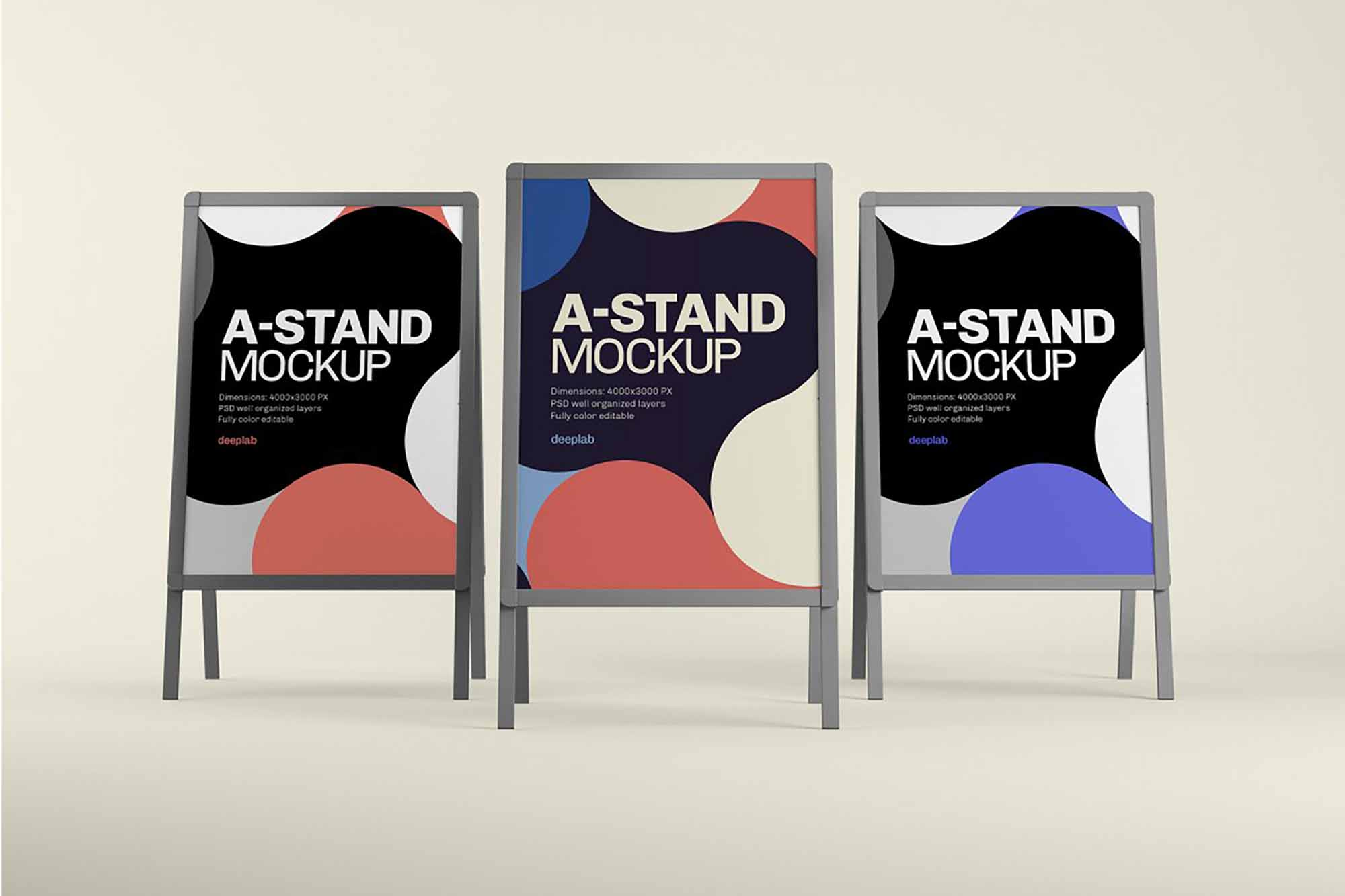 Advertising A-Stand Mockup