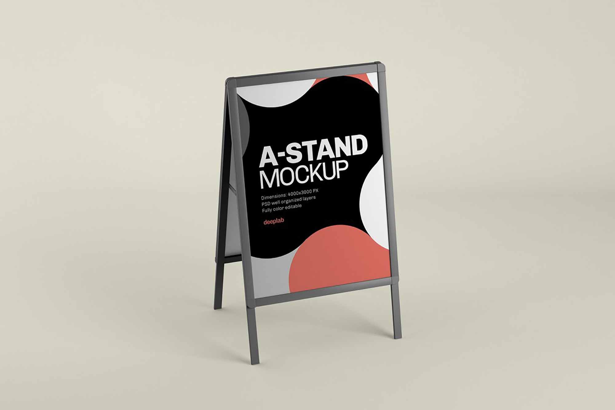 Advertising A-Stand Mockup 2