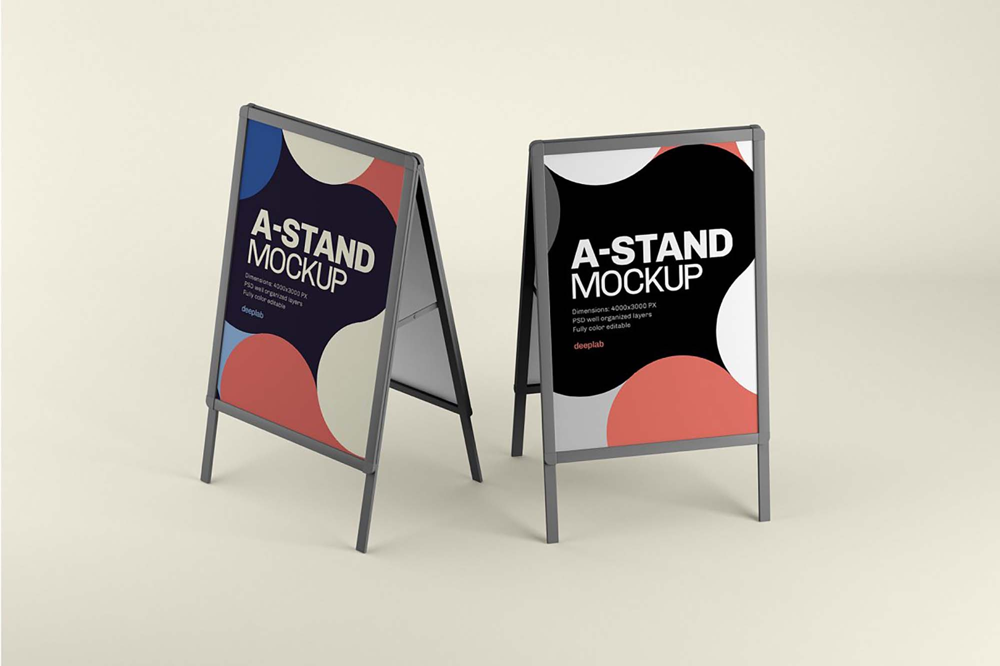 Advertising A-Stand Mockup 3