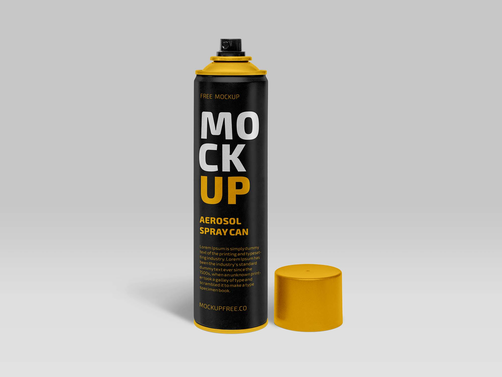 Aerosol Spray Can Mockup