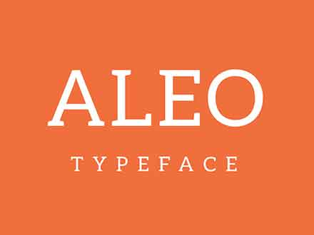 Aleo Slab Serif Font