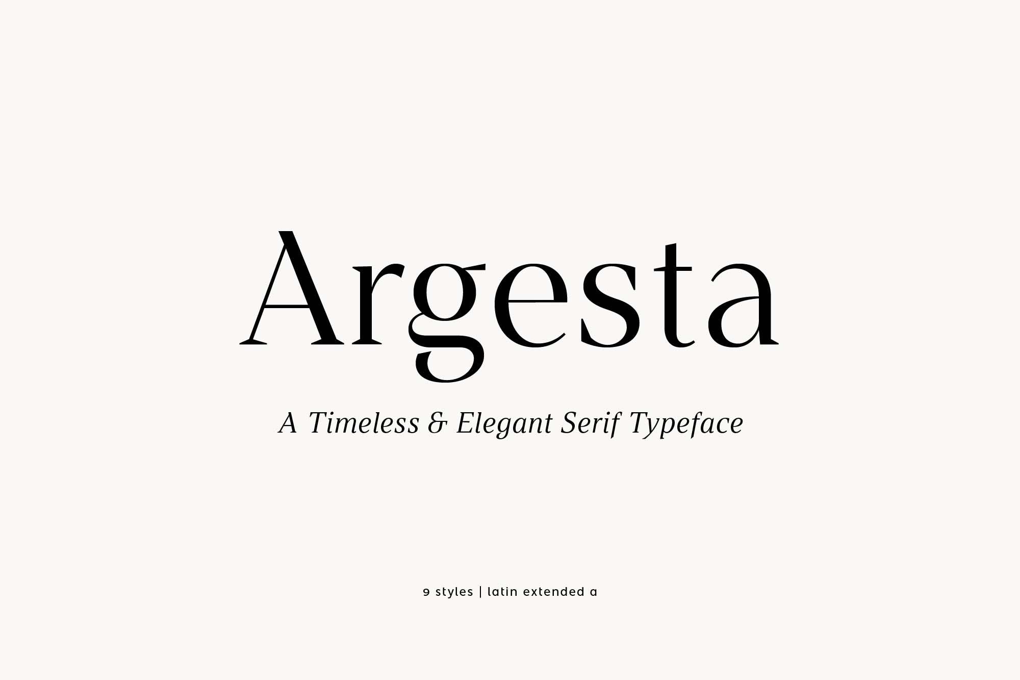 Argesta Serif Font