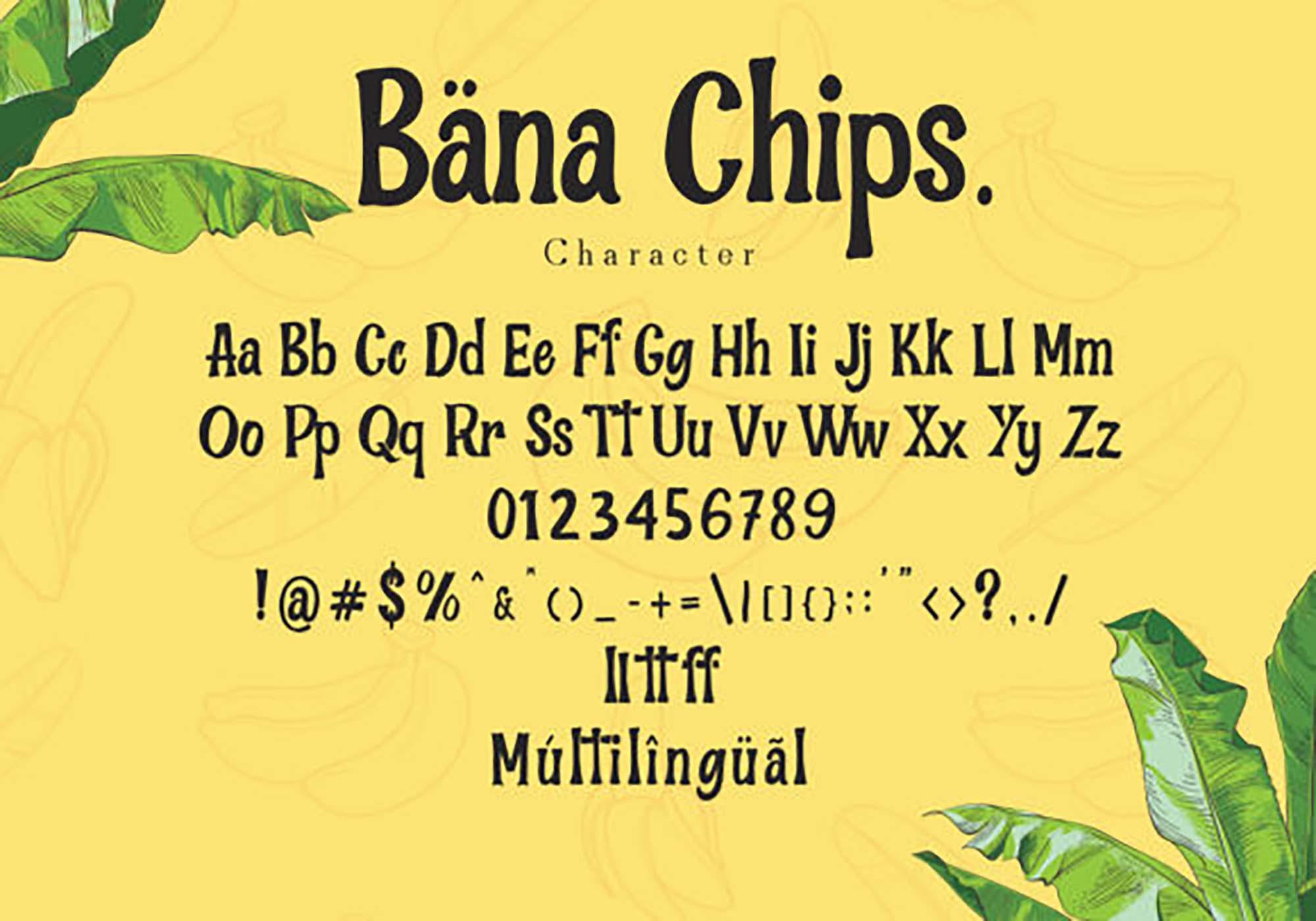 Ban Chips Font 3