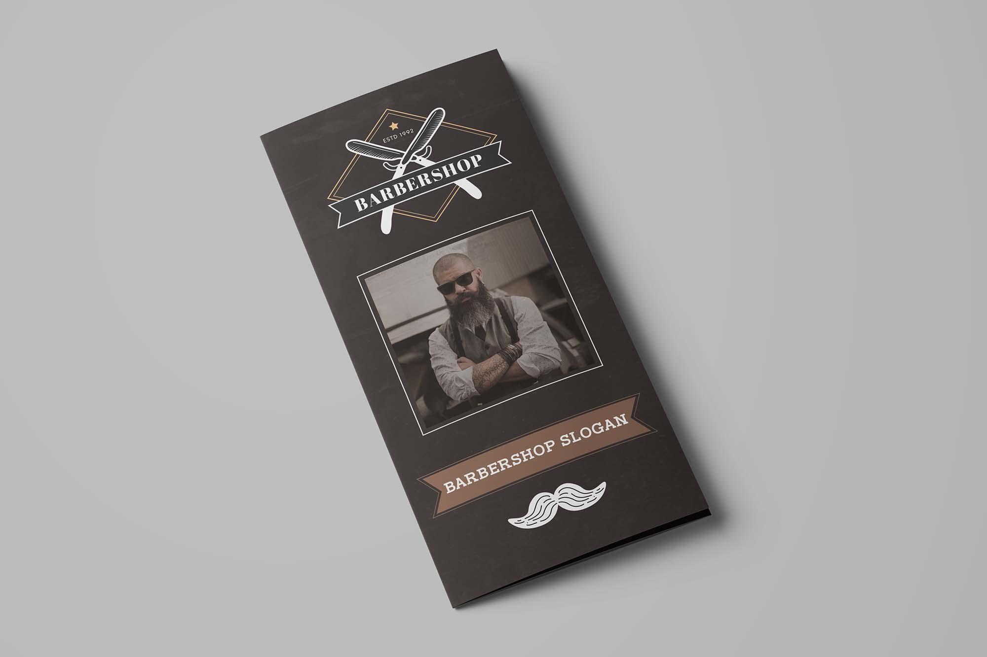 Barbershop Trifold Brochure Template