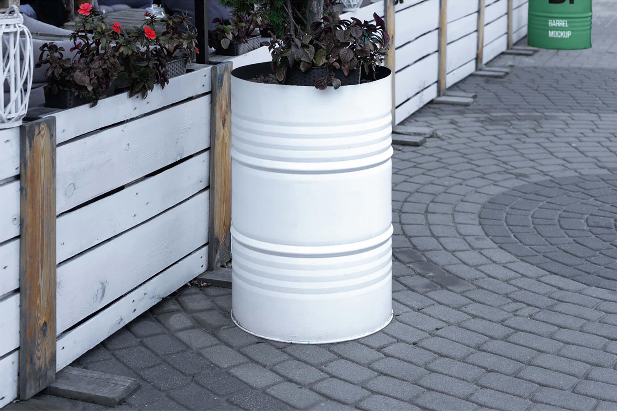 Barrel Mockup 2