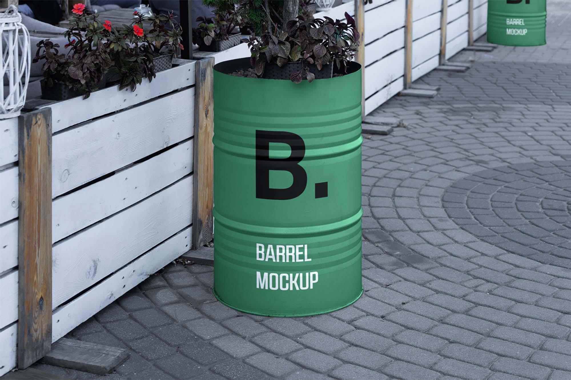 Barrel Mockup