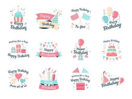 Birthday Vector Badges